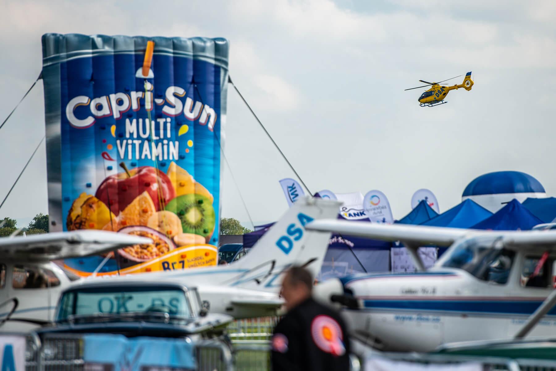 Capri-Sun Roadshow helicopter show