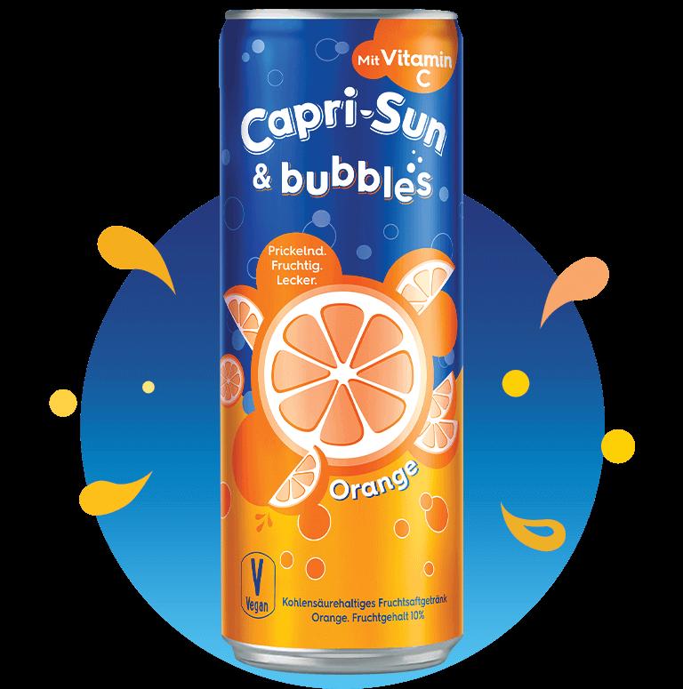 Capri-Sun & Bubbles Orange with splashes