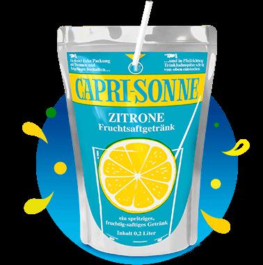 Capri-Sun 200ml Pouch Retro Zitrone with splashes
