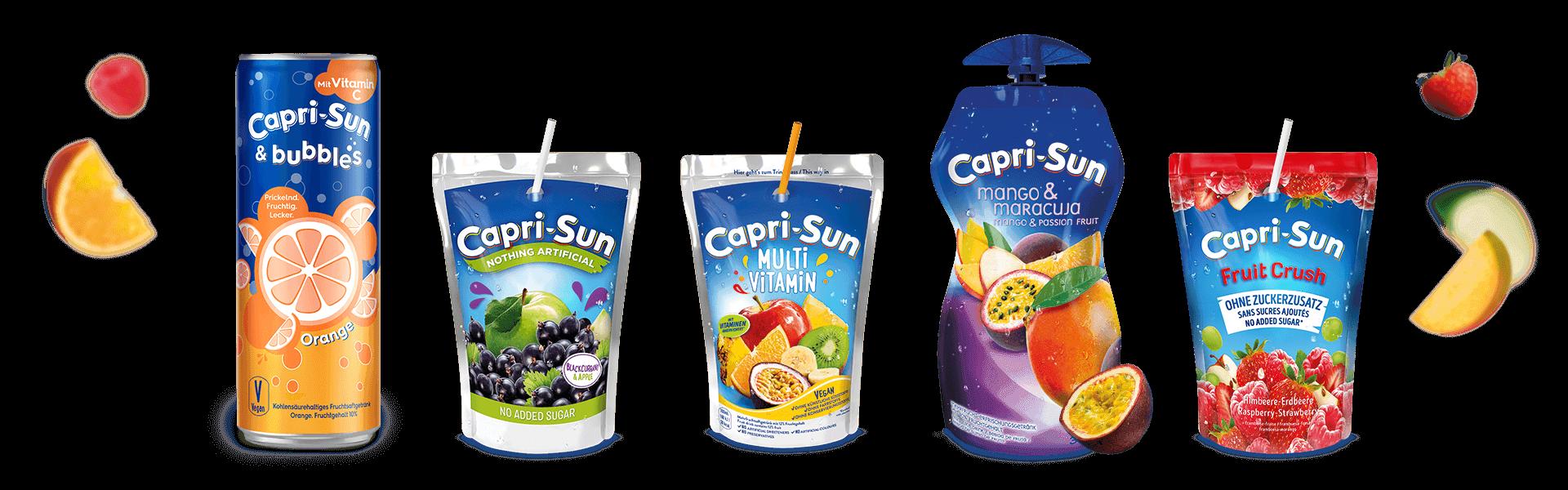 Capri-Sun Website Header Full Range