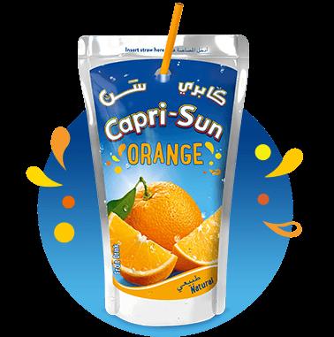 Capri Sun Orange 100ml with background and splashes Nigeria