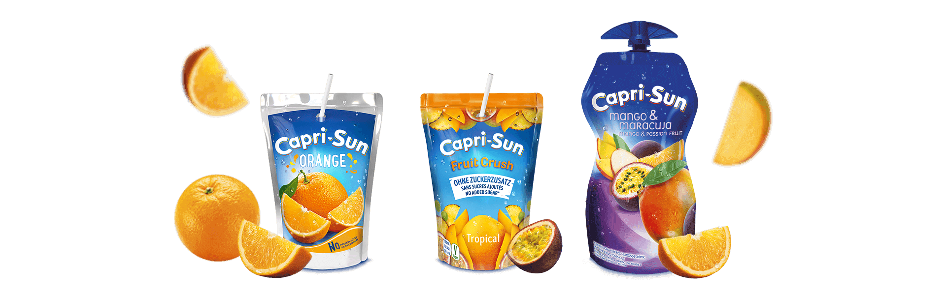 Capri-Sun_Orange_200ml_Fruit-Crush_No-added-sugar_Tropical_200ml_and_Mango-Maracuja_330ml_with-flying-fruits_picture