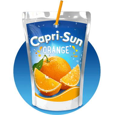 Capri Sun Orange 200ml with background
